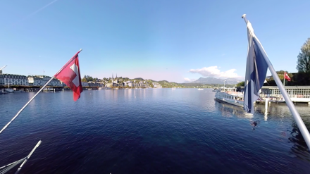 360° video from a bridge at Lucerne at the lake